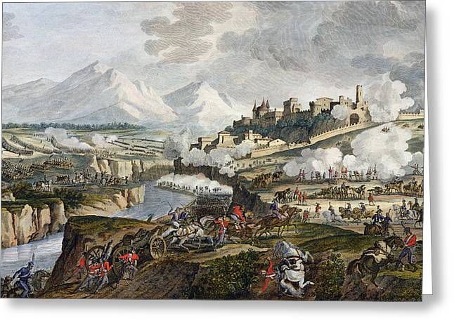 The Battle Of Roveredo, 18 Fructidor Greeting Card