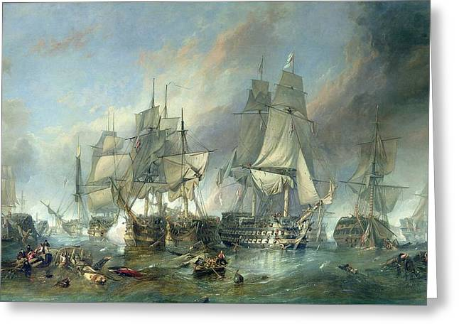 The Battle Of Trafalgar, 1805 Greeting Card
