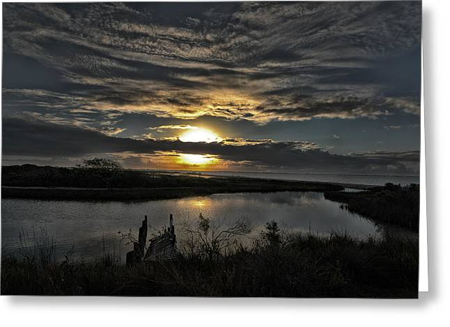 The Bay At Dawn Greeting Card