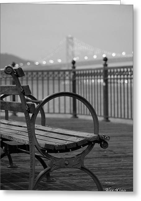 The Bay Bridge Greeting Card by Alex King