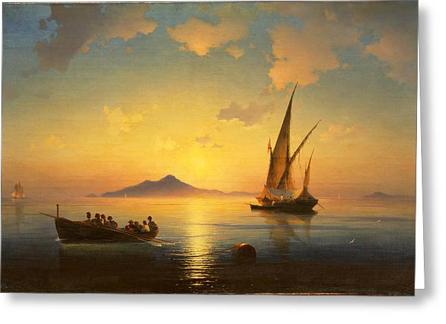 The Bay Of Naples Greeting Card