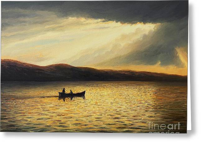 The Bay Of Silence Greeting Card by Kiril Stanchev