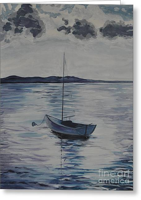 The Bay Greeting Card by Sally Rice