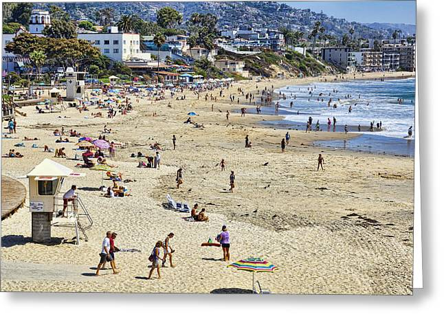The Beach At Laguna Greeting Card by Kelley King