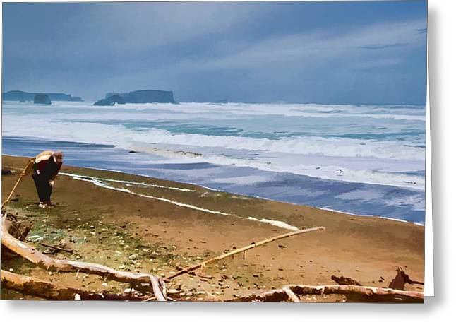 The Beach Comber Greeting Card by Dale Stillman