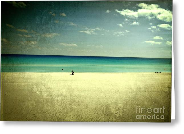 The Beach - From My Iphone Greeting Card by Mary Machare