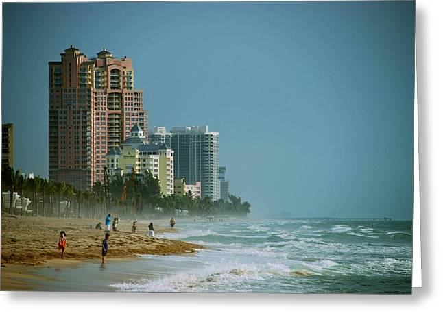 The Beach Near Fort Lauderdale Greeting Card by Eric Tressler