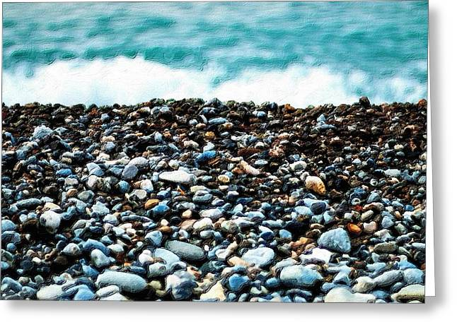 The Beach Of Rocks Greeting Card