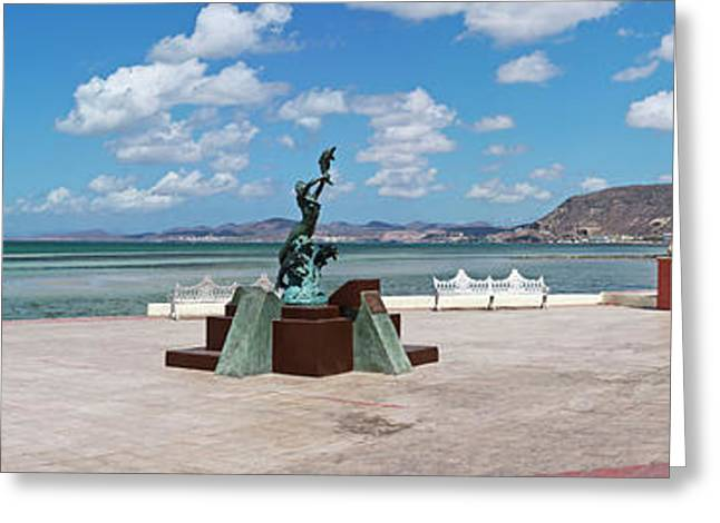 The Beachside Strolling Malecon Greeting Card by Panoramic Images