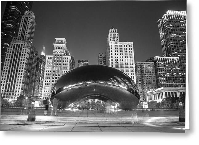 The Bean In Chicago In Black And White Greeting Card by John McGraw