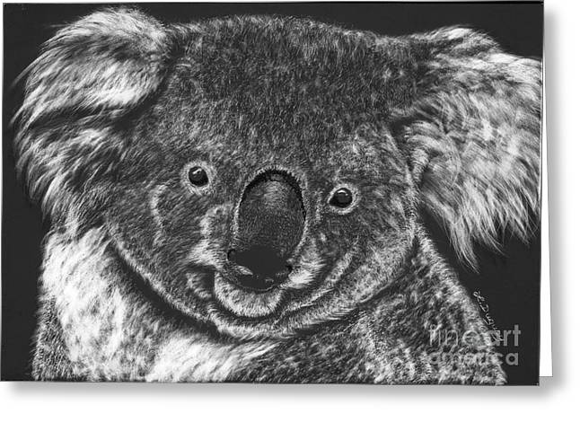 The Bear From Down Under Greeting Card by Lora Duguay