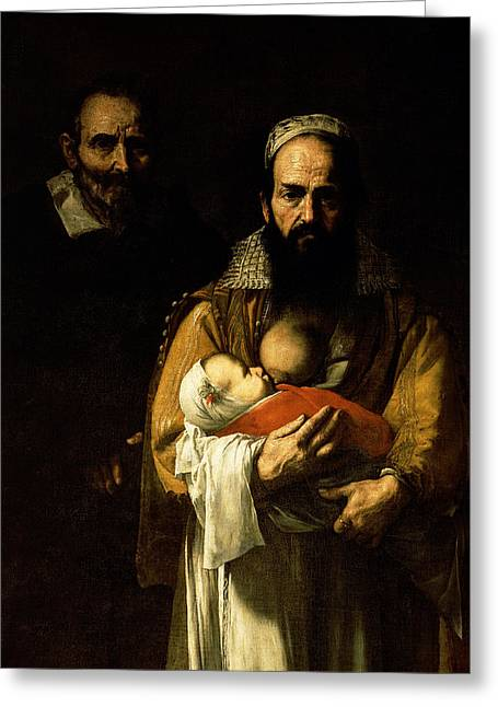 The Bearded Woman Breastfeeding, 1631 Greeting Card by Jusepe de Ribera
