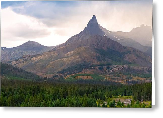 The Beartooth Mountains   Greeting Card by Lars Lentz