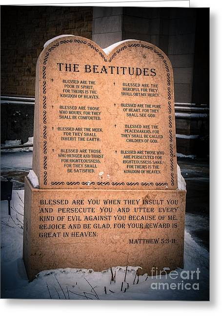 The Beatitudes Greeting Card