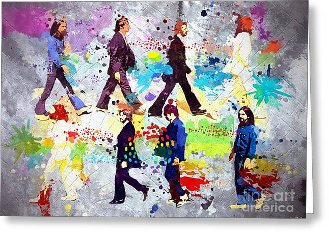 The Beatles Grunge Greeting Card