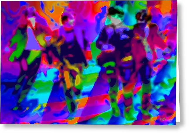 The Beatles Kaleidoscope 3 Greeting Card by Marcello Cicchini