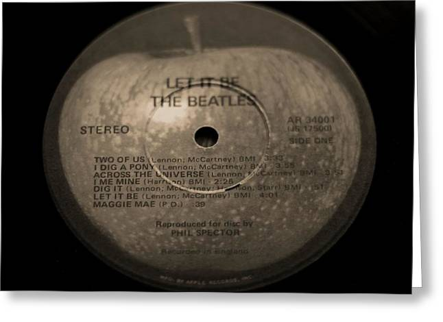 The Beatles Let It Be Greeting Card by Dan Sproul