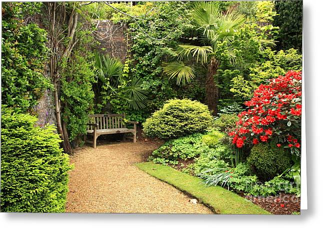 The Beautiful Garden Greeting Card by Boon Mee