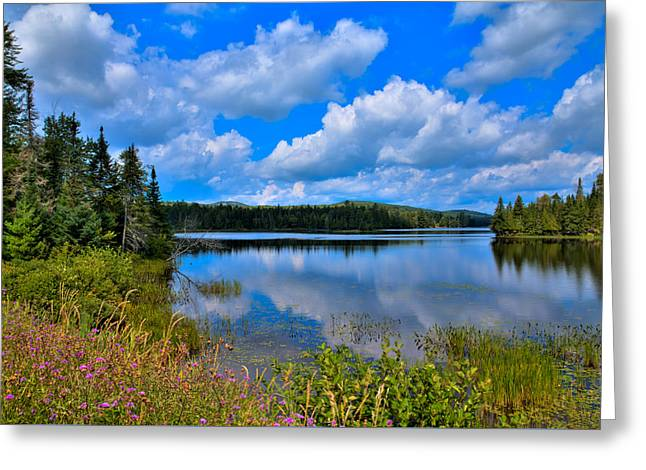 The Beautiful Lake Abanakee New York Greeting Card by David Patterson