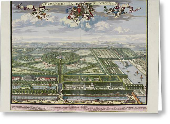 The Beautiful Park Of Enghien Greeting Card by British Library