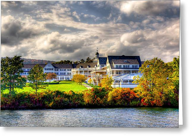 The Beautiful Sagamore Hotel On Lake George Greeting Card