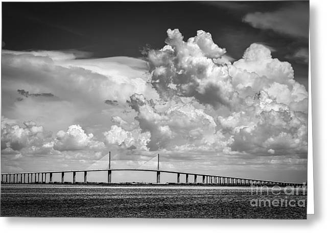 The Beautiful Skyway Greeting Card by Marvin Spates
