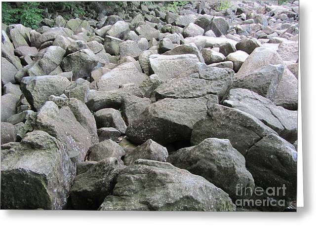The Beautiful Tones Of The Ringing Rocks Greeting Card
