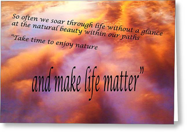 The Beauty In Nature Greeting Card