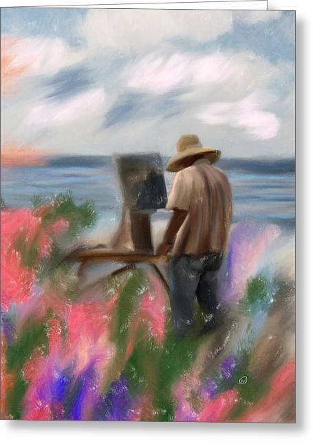 The Beauty Of A Painter Greeting Card by Angela A Stanton