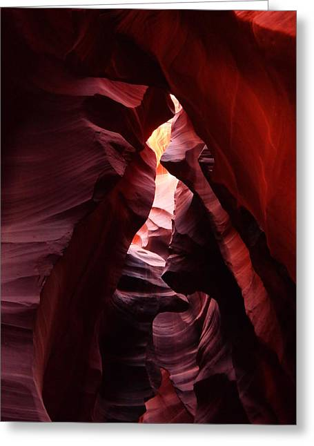 The Beauty Of Antelope Canyon Greeting Card by Jeff Swan