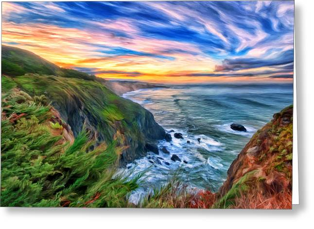 The Beauty Of Big Sur Greeting Card by Michael Pickett