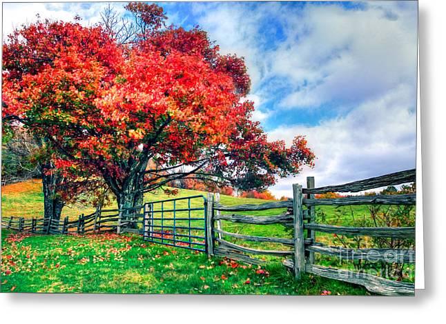 The Beauty Of Fall IIi - Blue Ridge Parkway Greeting Card
