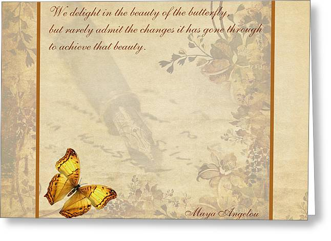 The Beauty Of The Butterfly Greeting Card by Olga Hamilton