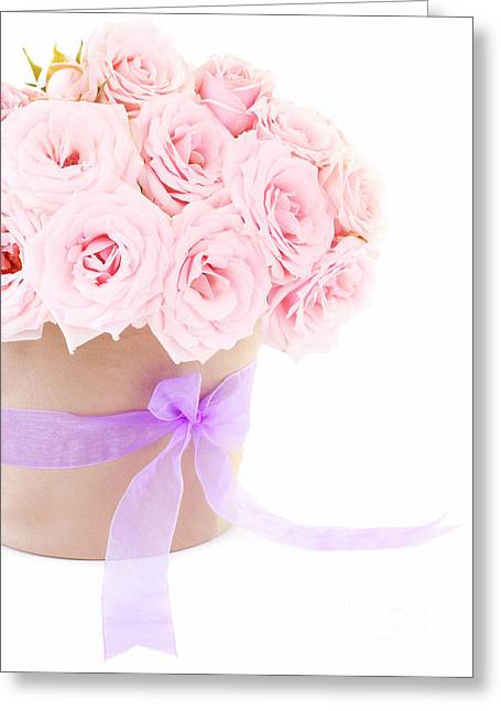 The Beauty Pink Roses Greeting Card by Boon Mee