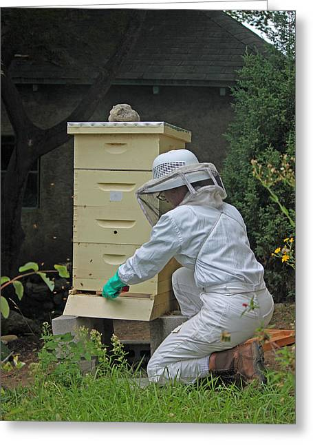 The Beekeeper II Greeting Card