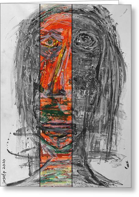 The Begger Who Begged For Love Greeting Card by Sir Josef - Social Critic -  Maha Art