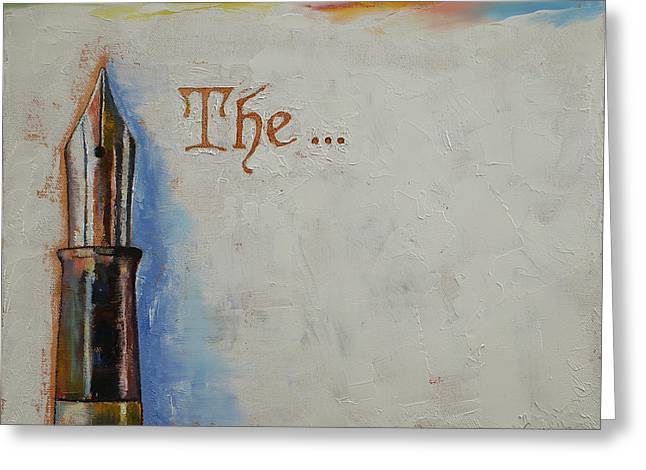 The Beginning Greeting Card by Michael Creese