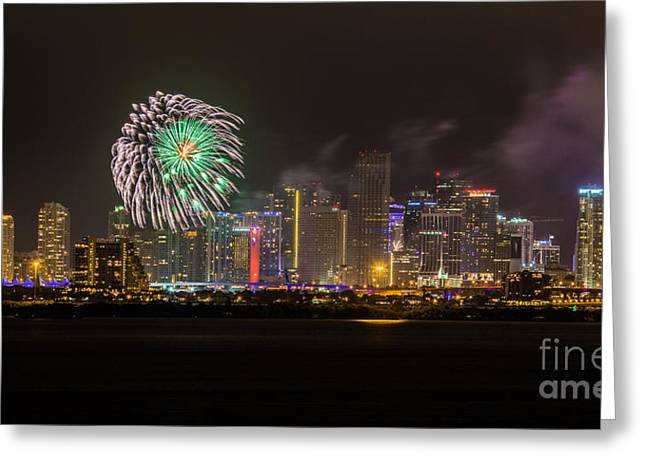 The Beginning Of 2014  Greeting Card by Rene Triay Photography