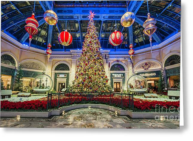 The Bellagio Christmas Tree Greeting Card