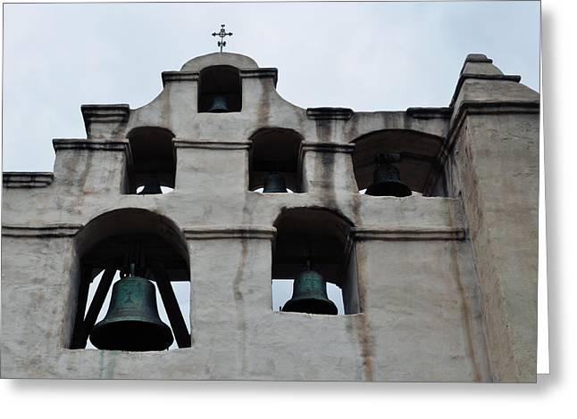 The Bells Of Mission San Gabriel Arcangel Greeting Card