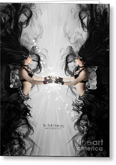The Bellydancers Greeting Card by Babette Van den Berg