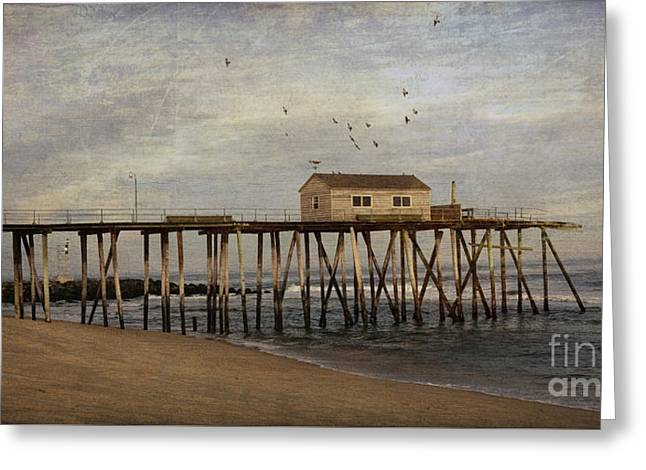 The Belmar Fishing Club Pier Greeting Card