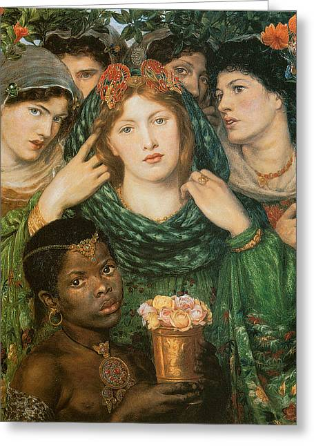 The Beloved-the Bride Greeting Card by Dante Gabriel Rossetti