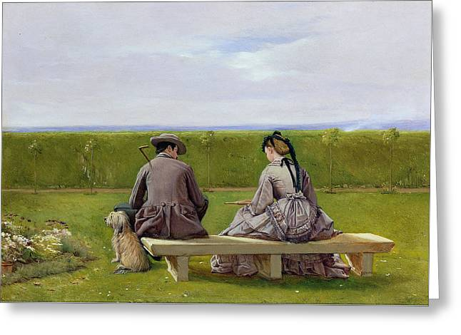 The Bench By The Sea Greeting Card