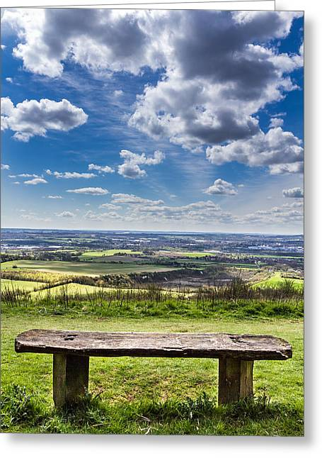 The Bench. Greeting Card by Gary Gillette