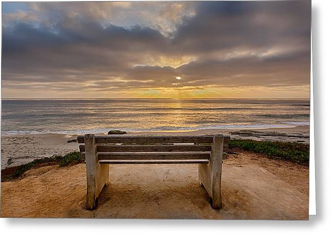 The Bench Iv Greeting Card