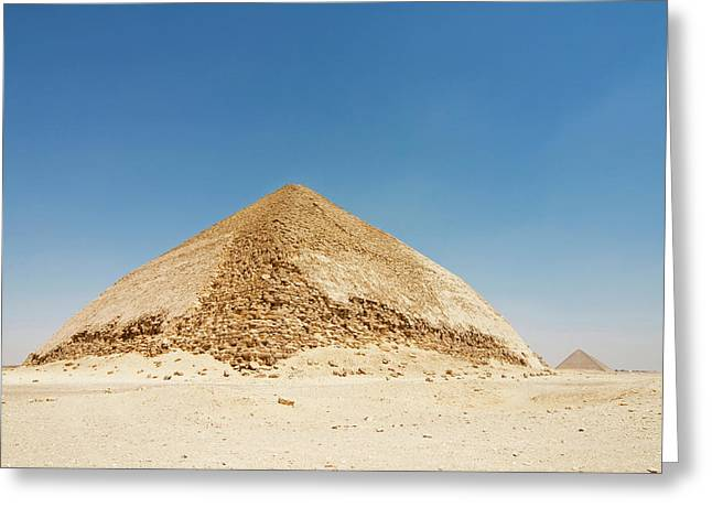 The Bent Pyramid At Dashur, Cairo, Egypt Greeting Card