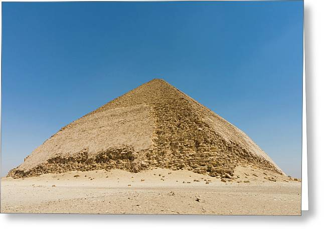 The Bent Pyramid Built By Old Kingdom Greeting Card by Nico Tondini