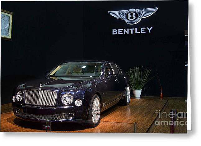 Greeting Card featuring the photograph The Bentley Mulsanne Mulliner by Mohamed Elkhamisy
