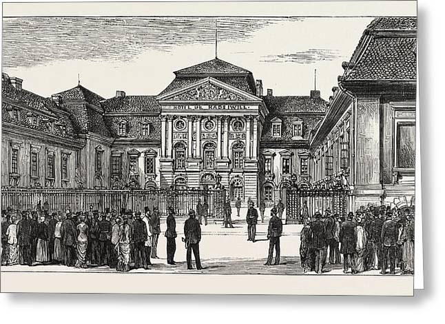 The Berlin Congress  The Rauziwill Palace Greeting Card by German School